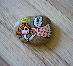 malovaný kamínek ANDÍLEK