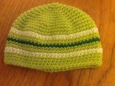 Lime stripe hat