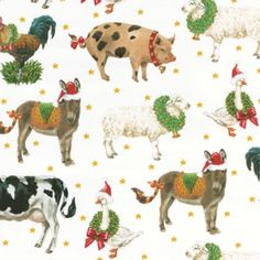 Farm to Stable Gift Wrap Roll