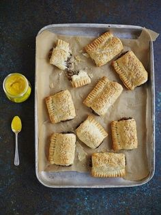 Vegan Mushroom Rolls from Jamie Oliver. These are better than sausage rolls, and they're vegan (watch what pastry you use though) Vegan Snacks, Vegan Recipes, Cooking Recipes, Snacks Recipes, Vegan Food, Vegan Appetizers, Food Food, Healthy Food, Entree Vegan