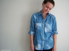 Sew Amy Sew | Tie Dyed Chambray Archer