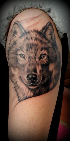 Wolf tattoo by Medusa Tattoo (Athens, Greece)