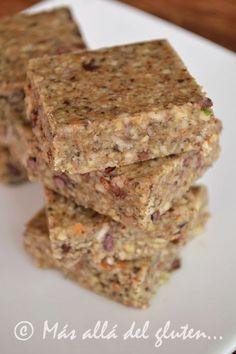 Más allá del gluten...: Barras de Semillas (Receta GFCFSF, Vegana, RAW)