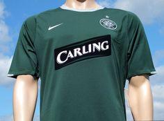 Celtic F.C. Nike Away Season 2007-2008 Champions League Sponsored Short Sleeved Shirt