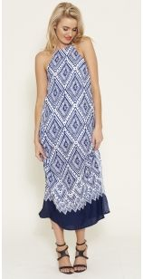 Gorgeous Printed Cut out Maxi - Shop it now at www.livingdoll.com.au