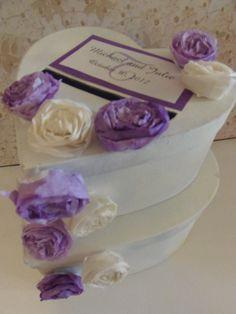 Two Tear Wedding Card Box custom made, only $55.00!