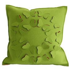 Felt butterfly pillow