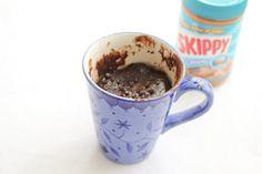 One Minute Peanut Butter Chocolate Mug Cake | Kirbie's Cravings | A San Diego food & travel blog