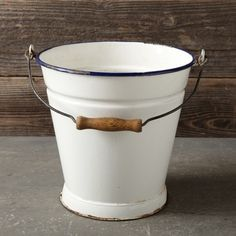 Found Enamel Pail - modern - outdoor products - Williams-Sonoma