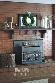 Mantle Remodel Phase 1. This is the first step in a total overhaul of our mantel and brick surround.