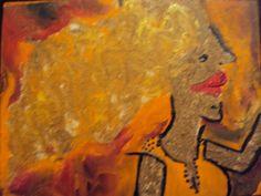 O que você vê?, tinta a óleo sobre tela, 2012, por Jéssica Batista.