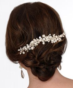 Freshwater pearl hair piece H11 by FayeDanielDesigns on Etsy, $160.00