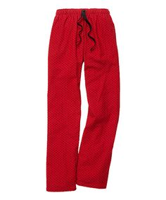 Look what I found on #zulily! Boxercraft Red & Black Swiss Dot Pants by Boxercraft #zulilyfinds