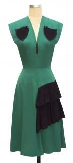 Trashy Diva Corded Sadie Ruffle Dress cg-d5013pkt-greenblack