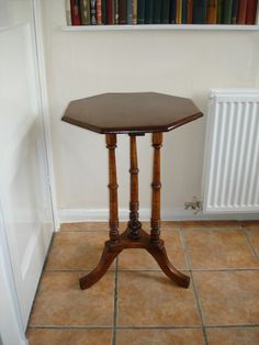 Vintage Mahogany Octagonal Top Three Leg Side Table - in Antiques, Antique Furniture, Tables | eBay