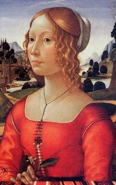 Portrait of a Lady Domenico Ghirlandaio 1449 – 11 January was an Italian Renaissance painter from Florence. Among his many apprentices was Michelangelo. Mode Renaissance, Costume Renaissance, Renaissance Portraits, Renaissance Paintings, Renaissance Fashion, San Marcos Evangelista, Ludwig Meidner, Flapper, Clark Art