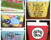 Personalized Hand-Painted Coolers! Perfect for summer at the beach or tailgates or a gift to a friend!