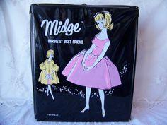 Vintage Midge Barbie Doll Black Case 1963. Vintage by lesaestes