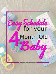 easy schedule for your four 4 month old baby