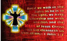 1 John 1:9 1 John 1 9, All Sins, Walk In The Light, King James Bible, Holy Week, Jesus Christ, Verses, Faith, God