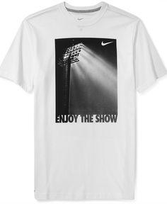 Nike Shirt, Enjoy The Lights Graphic T-Shirt - T-Shirts - Men - Macy's
