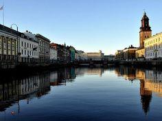 Blick auf Göteborg, nach Stockholm die zweitgrößte Stadt Schwedens.