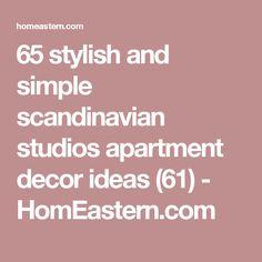 65 stylish and simple scandinavian studios apartment decor ideas (61) - HomEastern.com