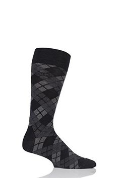 77fad48fbde Mens 1 Pair Hugo Boss Argyle Stripe Combed Cotton Socks Black 4346     To  view further for this item