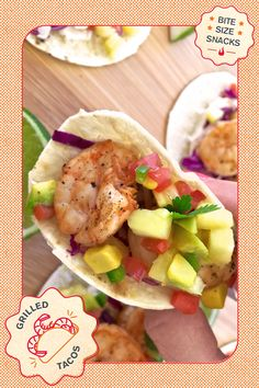 Tacos don't have to wait until Tuesday. With the colorful ingredients and bright flavors of this grilled classic, it's okay to give in to shrimp-tation. Chef Loryn Purvis's tequila lime shrimp tacos recipe with pineapple salsa is pure summer on a tortilla. Dig in.   Char-Broil