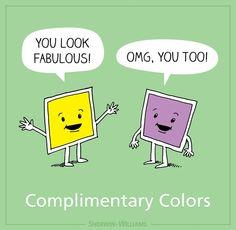 Complimentary Colors Pun Creative Market Blog Art Jokesart Puns Funny