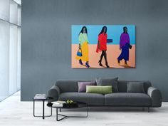 Shakes Tembani: Going To The Party: fine art | StateoftheART Original Paintings, Fine Art, Canvas, Gallery, Party, Tela, Roof Rack, Canvases, Parties
