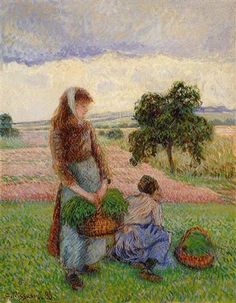 Peasant Woman Carrying a Basket - Camille Pissarro 1888