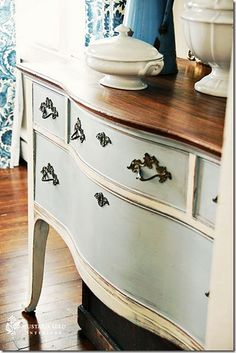 Amazing! Re-finished using Chalk paint...no sanding, no prep! Expensive but from what i've read well worth it!