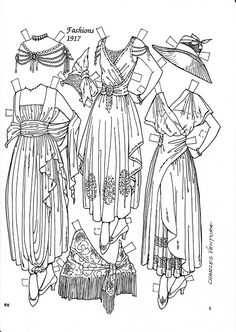 Pattern Book Fashions 1917 Paper Dolls by Charles Ventura - Nena bonecas de papel - Picasa Webalbum