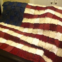 Finally completed....my first rag quilt.