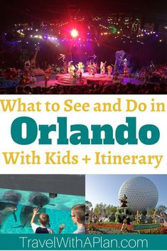 Click here to discover the perfect 6-day Orlando family vacation itinerary that includes Disney Parks and others!  Top U.S. family travel blog, Travel With A Plan, details just what to do and how to structure your Orlando family vacation!  #Orlando #Orlandowithkids #thingstodoinOrlando #Floridawithkids #Floridafamilyvacation #wheretogoinFlorida #HowtodoDisney #familytravel #travelwithkids #bestplacestogo #travelwithaplan #bestfamilyvacationspots #UStravel