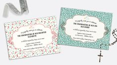 Confirmation Invitation by Silently Screaming Designs