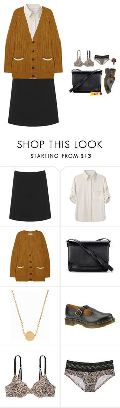 """Untitled #509"" by louiseabunn ❤ liked on Polyvore featuring L.K.Bennett, rag & bone, Sonia by Sonia Rykiel, Sole Society, Minnie Grace, Dr. Martens, Carmex and Victoria's Secret"