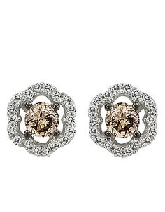 Chocolate Diamond® Stud Earrings in 14 Kt. White Gold