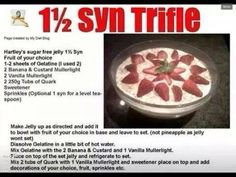 Slimming world trifle
