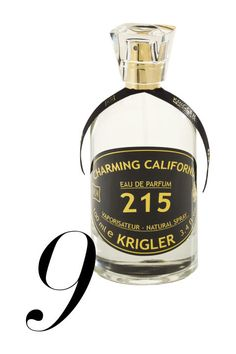 The notes: coriander, orange blossom, green tea, Bulgarian rose, jasmine, lily of the valley, cedarwood, sandalwood It smells like: Sunshine and orange juice; more Florida than California.  Krigler Charming California 215, $315, available mid-March at krigler.com.