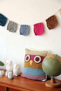 Meet a new friend: crochet cushowl | Flickr - Photo Sharing!