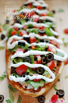 French Bread Taco Pi