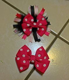 Pink Polka Dot Boutique Basic Hairbow and Basic by mLyCreations