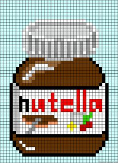 Hama beads Nutella biby creations Couture tutorial pyssla