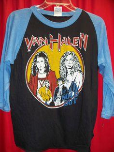 47772c13c Vintage Van Halen Sold Out Baseball3/4 sleeve Raglan T-Shirt. 1984 Medium