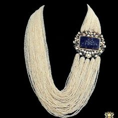 @thejewellcloset Stunning Pearl, Sapphire and diamond necklace