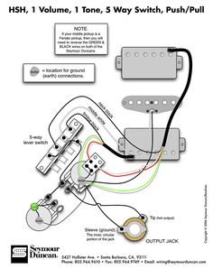 Dc Be Dea Ea F Df A C Guitar Pickups Guitar Parts on Wiring Diagram Hsh Push Pull