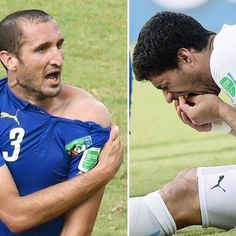 Even before the knockout rounds have kicked off, a key South American figure is out of the World Cup. Uruguay striker Luiz Suarez was handed a nine-game ban by FIFA's Disciplinary Committee following his bite on Italian defender Giorgio Chiellini's shoulder during the final Group D match in Natal on Tuesday.