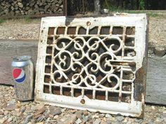 Antique Cast Iron Register Grate Vent Ornate Architectural Salvage   eBay